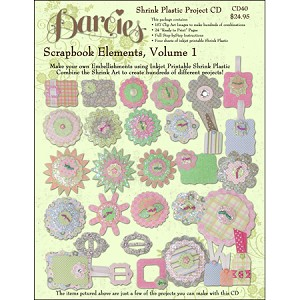 Scrapbook Elements Shrink Plastic Project CD