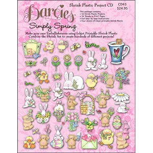 Simply Spring Shrink Plastic Project CD