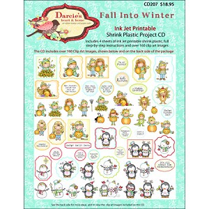 Fall Into Winter Shrink Plastic Project CD