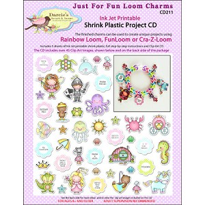 Just For Fun Loom Charms Shrink Plastic Project CD