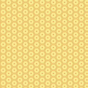 Hexagon Dots Orange